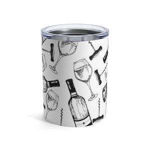 Wine Bottles & Glasses 10oz Insulated Tumbler