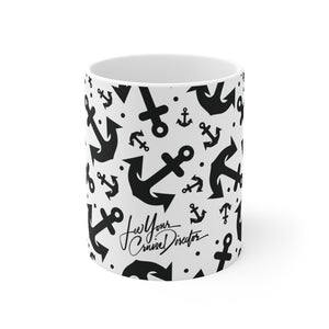 Lee Your Cruise Director Anchors 11oz Ceramic Mug
