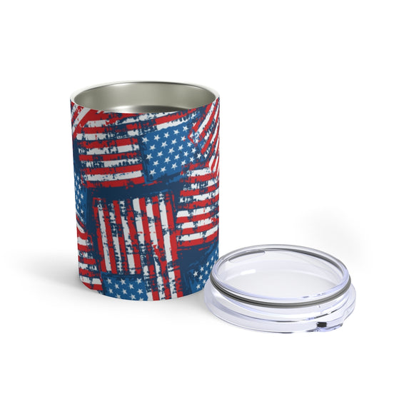 Stamped American Flag 10oz Insulated Tumbler