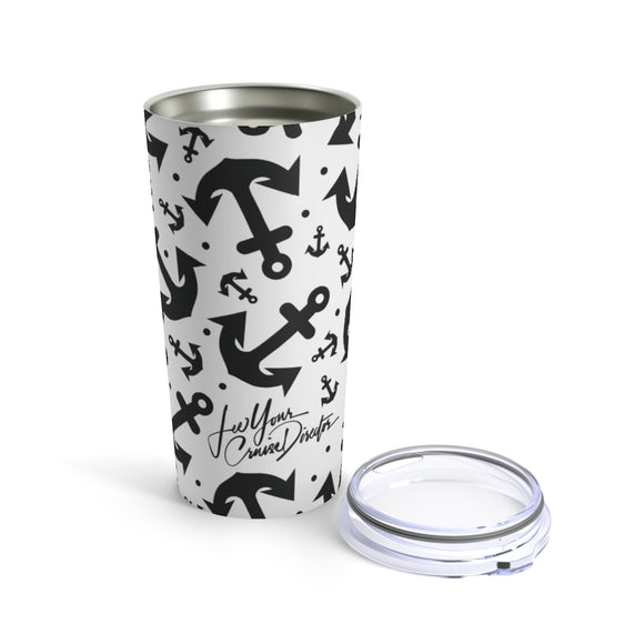Lee Your Cruise Director 20oz Anchor Stainless Hot/Cold Tumbler