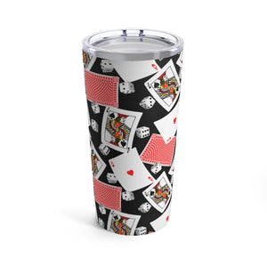 Casino Cards & Dice 20oz Hot/Cold Stainless Tumbler