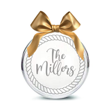 Personalized Hand-Etched Glass Ornament