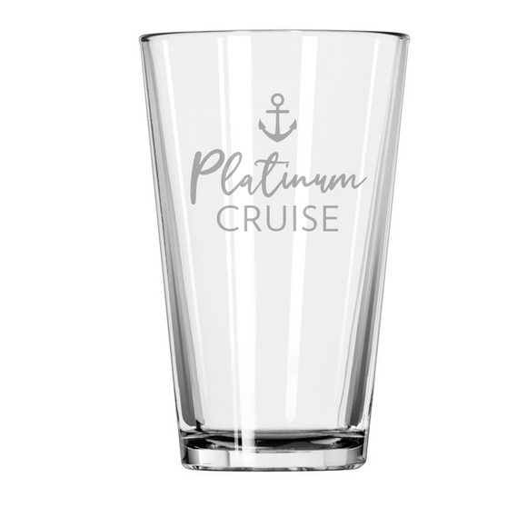 PLATINUM CRUISE Etched Pint Glass