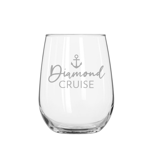 DIAMOND CRUISE Stemless Wine Glass