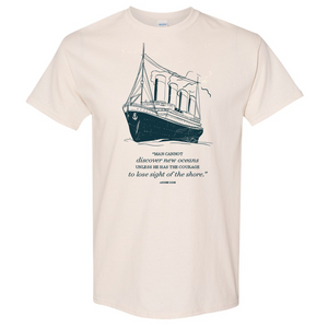 Vintage Ship with Quote
