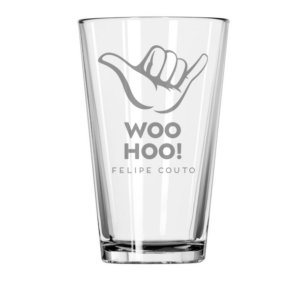 Cruise Director Felipe Woo Hoo Etched Pint Glass