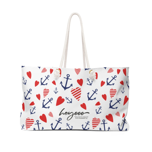Cruise Director Schwartz Love You More Weekender Bag