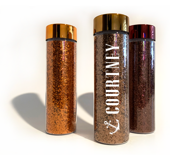 Personalized 16oz Glitter Water Bottle