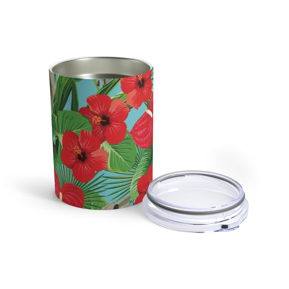 Hibiscus 10oz Insulated Tumbler