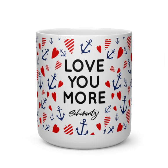 Cruise Director Schwartz Love You More Heart Shape Mug
