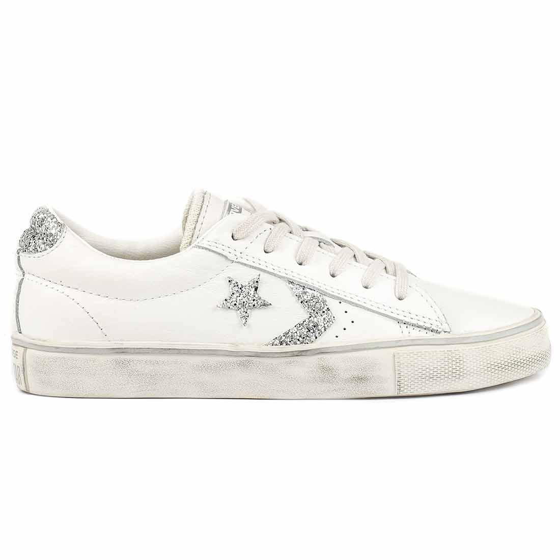 converse all star donna basse bianche