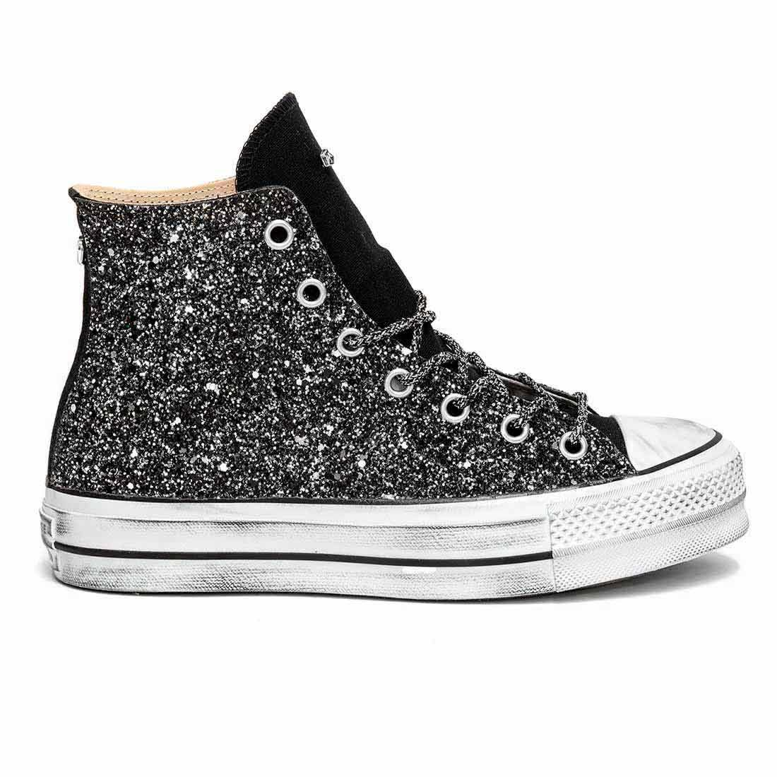all star converse platform bianche