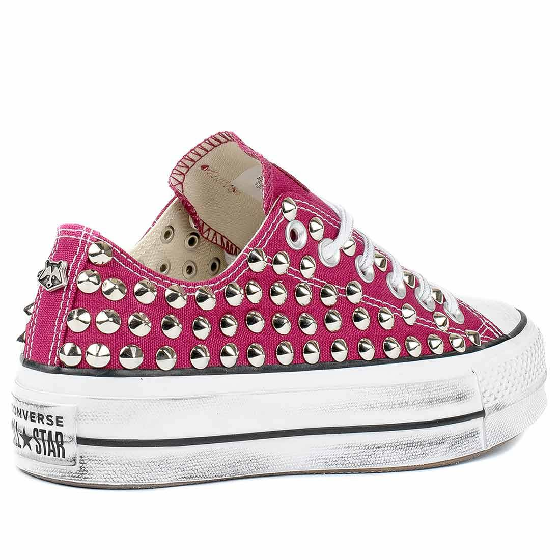 all star converse con borchie e zeppa