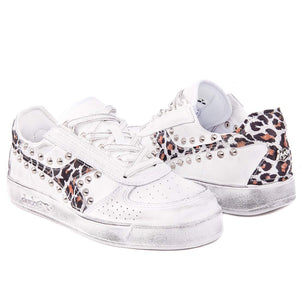 Diadora B.Elite leopardate con borchie e maculate stile animalier borchiate by Racoon-LAB