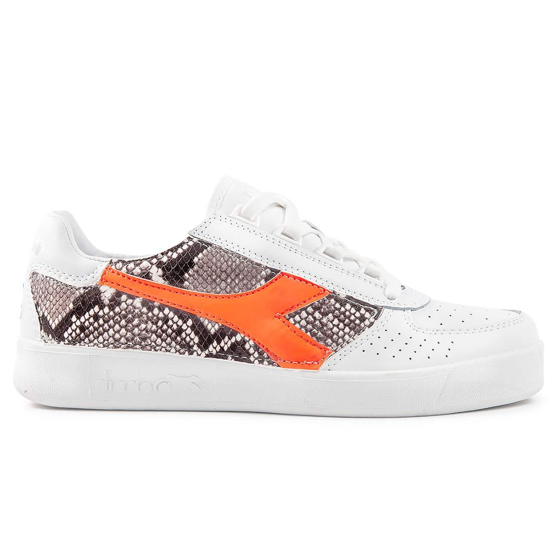 Diadora B.elite pitonate effetto animalier pitone color arancione fluo Racoon-LAB
