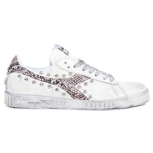 Diadora game low pitonate personalizzate stile animalier pitone Racoon-LAB