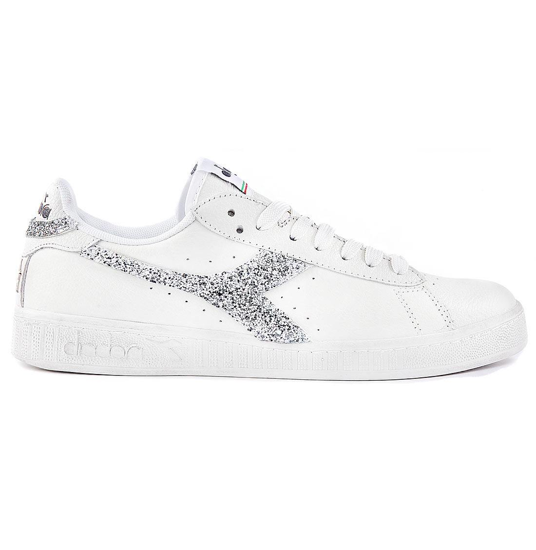 Diadora Game Low con Glitter Argento | Racoon LAB