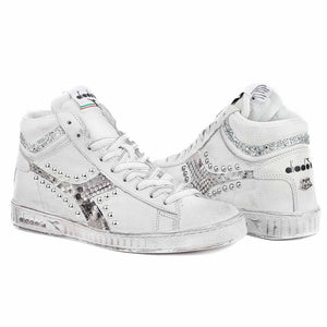 Scarpe pitonate con borchie e con glitter modello Diadora game high