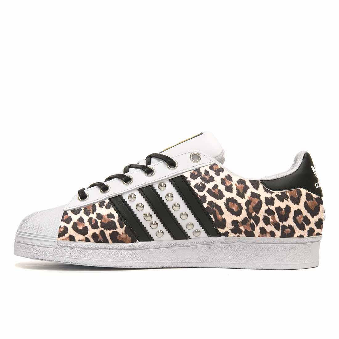 adidas donna superstar leopardate