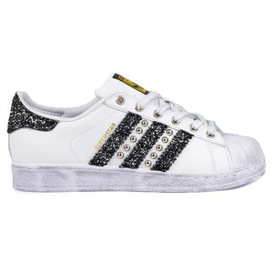 scarpe adidas superstar brillantinate con borchie
