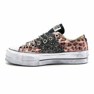 all star con brillantini e leopardate rosa