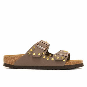 Birkenstock Arizona Marroni con Borchie Oro