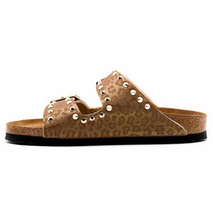 birkenstock arizona custom borchiate e leopardate