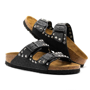 birkenstock arizona custom leopardate nere