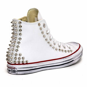 converse all star  alte bianche bochiate