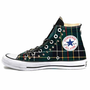 converse all star con tartan verde