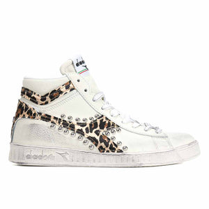 diadora game high con animalier macualto e e borchia tonda