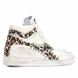 diadora game high leopardate con borchie