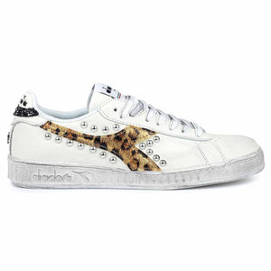 diadora game low borchiate leopardate oro metallizzate