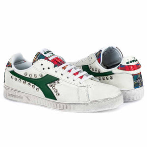 diadora game low borchiate con tartan