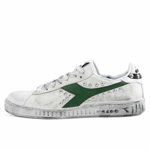 diadora game low borchiate con dettagli verde foliage
