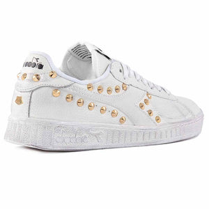 Scarpe Diadora Game Low Borchiate con borchie color oro