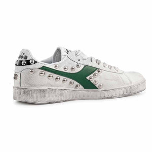 diadora game low verde foliage customizzate con borchie