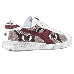 Diadora Game Low Pitonate Animalier pitone e glitter