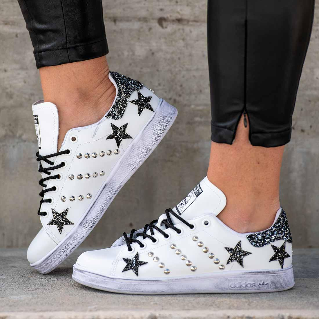 stan smith nere zebrate