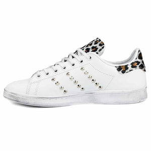 sneakers stan smith borchiate e leopardate