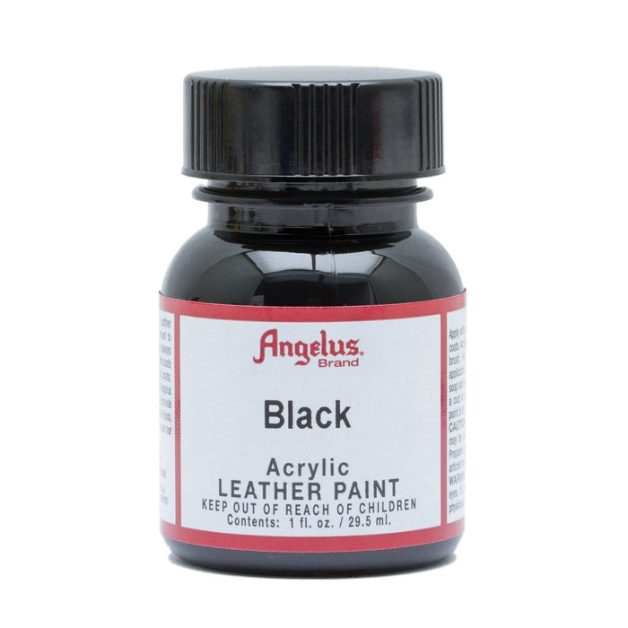 Angelus Black Acrylic Leather Paint