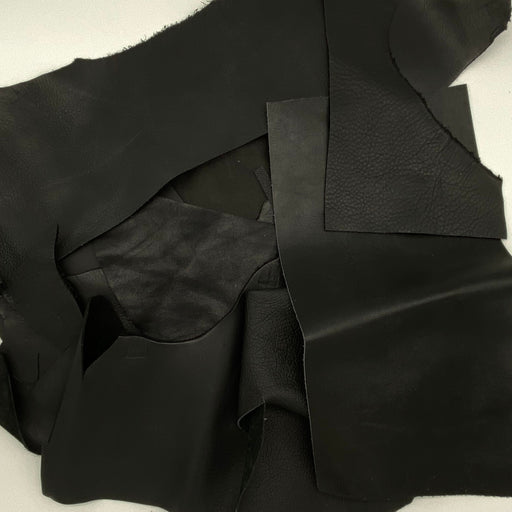 Black Leather Scrap - 1lb