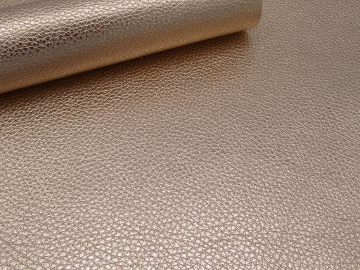 Metallic Rose Gold Pebble Grain Leather 3 oz-4 oz