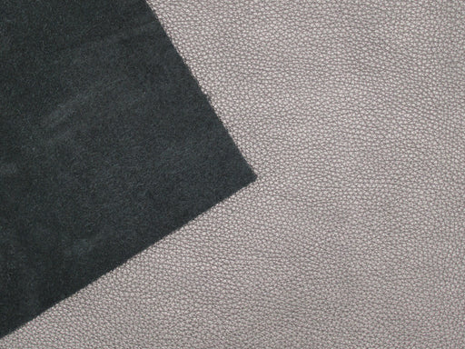 Metallic Pewter Pebble Grain Leather Panels 3oz-4oz