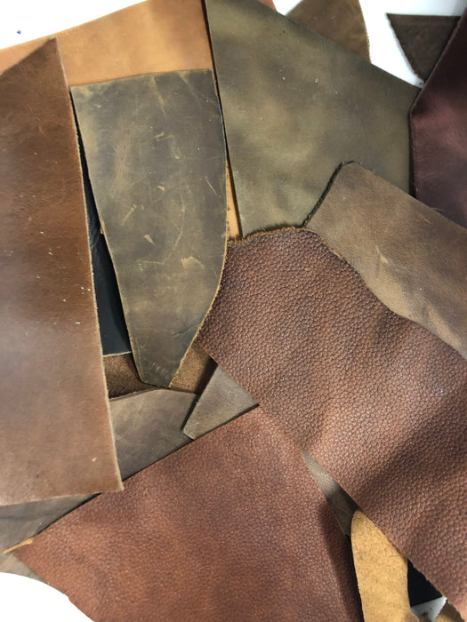 Oil Tanned Leather Scrap