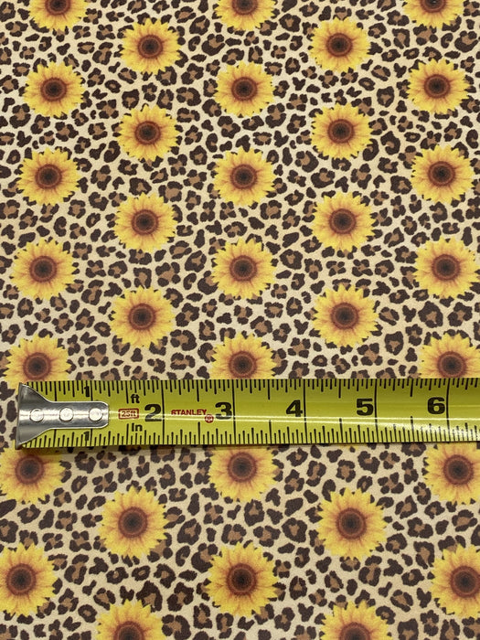 Sunflower Leopard Printed Leather