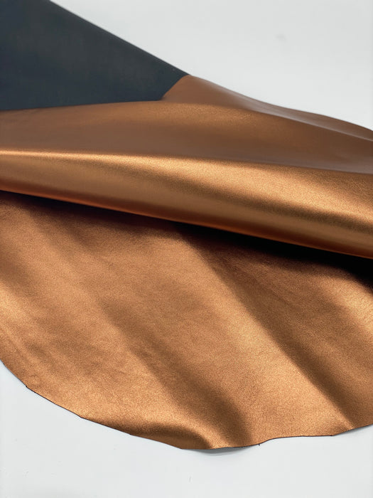 Metallic Lambskin Leather Hides