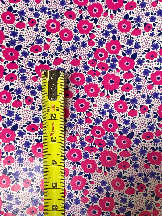 Spring Blossoms Printed Marine Vinyl Faux Leather