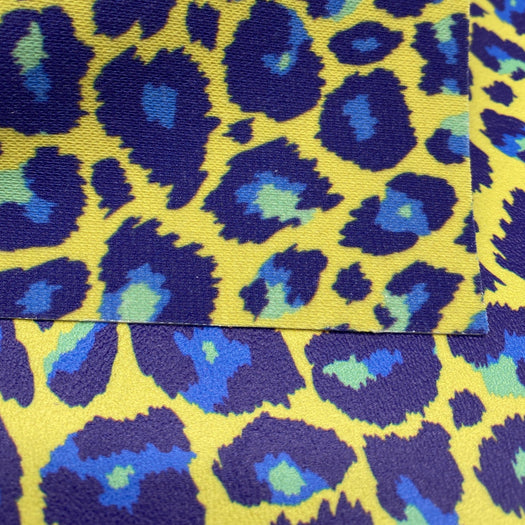 Empress Leopard Printed Marine Vinyl Faux Leather