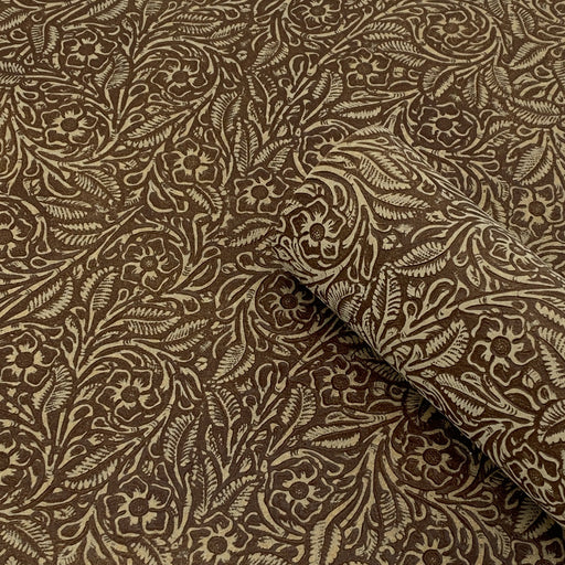 Tan Floral Embossed Suede Leather Sheets 3-4oz (1.2-1.6mm)